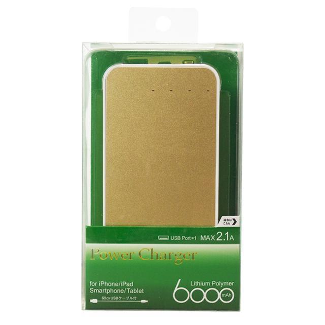 リチウムポリマー充電器6000mAhゴールド